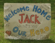 Military welcome home Jack
